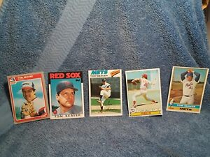Tom Seaver lot of 5 TOPPS & FLEER Card