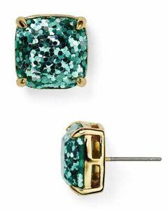 KATE SPADE Turquoise Glitter Square Stud Earrings