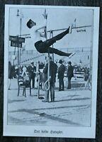 LPZ) Blatt 12. Deutsches Turnfest Leipzig 1913 Sport beste Hangler Seil klettern