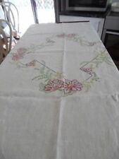 Embroidered 100% Linen Table Cloths