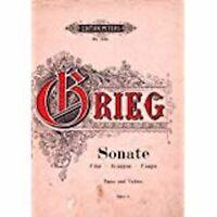 Edition Peters Grieg Edvard?Sonata No. 1en fa op. 8?Violon et Piano