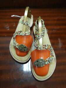 Ladies stunning bling snake effect gem detail Alma en Pena Sandals UK 4