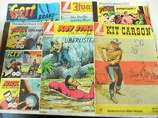 6 x Comic - Lehning Paket - Gert, Tibor, Ivanhoe , Roy Stark, Kit Carson -Z.  3