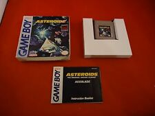 Asteroids (Nintendo Game Boy, 1992) Complete w/ Box manual game Works!