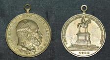 Original alte Medaille Enthüllungsfeier Kaiser Wilhelm Denkmal ERFURT 1900