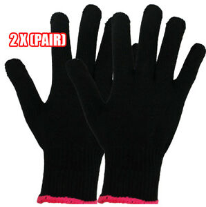 Professional Heat Resistant LONG Glove for Hair Styling Curling Flat Iron PAIR