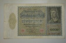 1922 Germany 10000 Marks Reichs Bank