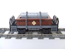 New Custom Built Train Car Built with New Lego Bricks - Emerald Night 10194