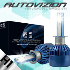 AUTOVIZION 38800LM 388W LED Headlight Kit H1 6K bulb White XENON Color CREE Pair