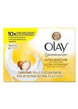 Olay Ultra Moisture 2 Bar Soap with Shea Butter 7.47 Ounce