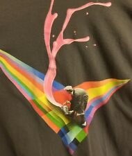 The Imaginary Foundation Mens Painter Rainbow Triangle Shirt Size L Large