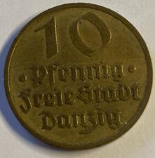 10 Pfennig Freie Stadt Danzig 1932 m.E.vz