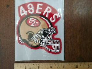"""NFL Patche S.F. 49ers Vintage Sew or Glue on small 3.5""""× 4"""" embroidered new rear"""