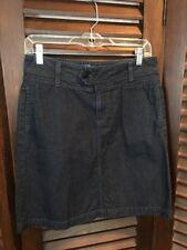 AG ADRIANO GOLDSCHMIED Women's Peony Skirt Dark Wash Denim Pencil Pockets Sz 27