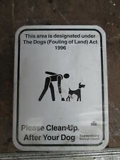Dog Fouling sign. road sign. traffic sign.street sign. Tewkesbury sign.