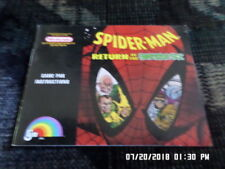 Spiderman Return Of The Sinister Six (NES Nintendo) Manual Only. NO GAME