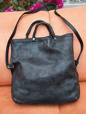 THINK Tasche BAG aus Soft Nappaleder! used look in schwarz