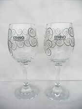 2x lot Wine glasses Ethno Wine Heritage Limited edition unused rare