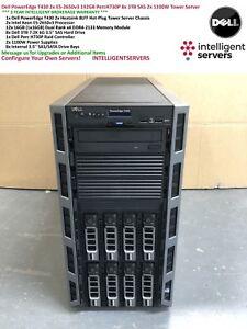 Dell PowerEdge T430 2x E5-2650v3 192GB H730P 8x 3TB 6G SAS 2x 1100W Tower Server