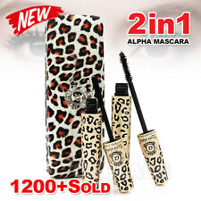 Premium Fibre Leopard Mascara Brush Love Alpha Natural Transplanting Gel Set