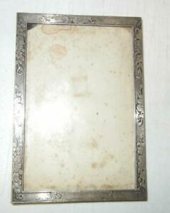ANTIQUE TIFFANY & CO.FLOWER FLORAL STERLING SILVER PICTURE FRAME 6540