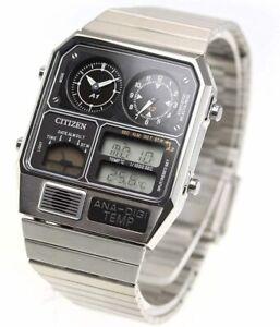 CITIZEN Anadejitenpe ANA-DIGI TEMP ReprintEd Model Watch Silver