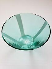 "Mikasa Spotlight Teal Bowl Decorative SF325/771 7.5"" Original Box Glass $90 Blue"