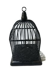 "Small Metal BIRD CAGE Black -  5"" Tall 3.25"" Wide Very Nice 👍"