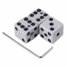 White Plastic Dice Guitar Volume Control Knobs with Wrenches Set of 3
