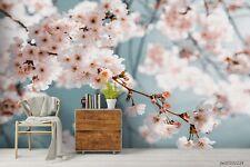 New Listing3D Sakura Floral Pink Wallpaper Wall Murals Removable Wallpaper 286