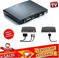 ADATTATORE CONVERTITORE DA VGA AD HDMI AUDIO RCA analogivo tv monitor pc video