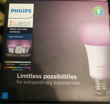 Philips - Hue White and Color Ambiance A19 Starter Kit (3rd Gen) New 4 Bulb Set!