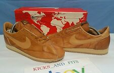 Vtg 1981 Nike Lady Village Made In USA Brown Leather sz 7.5 w/ OG Map Box Rare