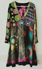 DESIGUAL Damen Kleid Shirtkleid A-Linie Gr.L Mehrfarbig  #LRH 324
