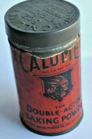 Vintage early tin Calumet baking powder indian head red paper label ad