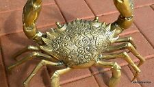 "large MUD CRAB solid brass statue heavy decoration stunning 15"" hand made B"