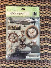 Navy-K&Company Stickers/Embellishments,NEW