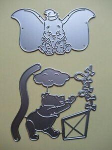 Craft / Cardmaking Metal Disney Style Cutting Die - Elephant or Bear with Kite