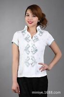 Chinese Traditional Tops Women Shirt Summer Blouse Size M to 3XL