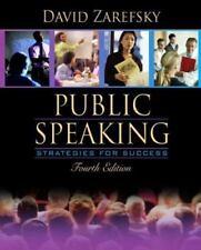 Public Speaking : Strategies for Success by David Zarefsky (2004, Paperback, Re…