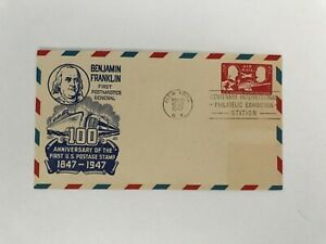 S3 Airmail First Day Cover May 21 1947 NYC Centenary Philatelic Fair Cache Craft