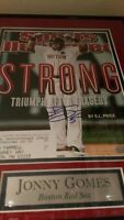 Sports Illustrated Cover Jonny Gomes Red Sox autograph 11x14 NO FRAME