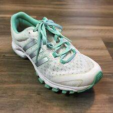 Women's Adidas Kanadia Road 2 Running Shoes Sneakers Size 6 White Mint Green R2