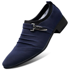 Mens Loafers Formal Party Dress Shoes Buckle Smart Wedding Office Work Shoes UK