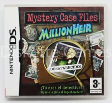 MYSTERY CASE FILES MILLIONHEIR - NINTENDO DS - PAL ESPAÑA - MILLION HEIR