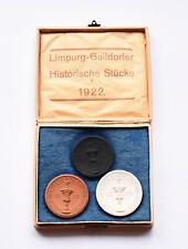 RARE GERMANY GAILDORF OLD CASTLE PORCELAIN COIN SET 1922 Mark Notgeld Emergency