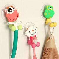 Cartoon Animal Sucker Kids Toothbrush Suction Cup Bathroom Wall Holder Hot