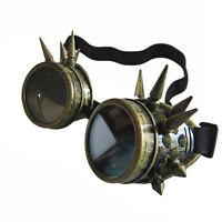 Retro Vintage Steampunk Goggles Glasses Round Sunglasses Windproof Mirror Punk