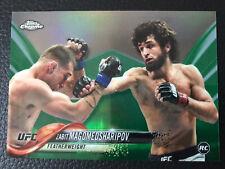 Topps UFC Chrome 2018 Zabit Magomedsharipov Rookie Green. Clean Numbered 99/99!