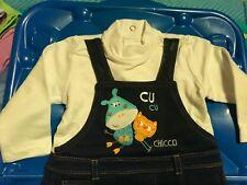 Vestitino neonata bimba Chicco 6 mesi 62 cm di cotone maniche lunghe